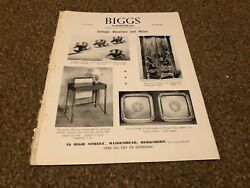 Ant10 Antique Advert 11x8 Biggs Of Maidenhead Furniture And Silver