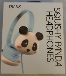 Traxx Squishy Panda Headphones Adjustable For Child Or Young Adult ,new,trendy
