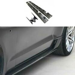 For Ford Mustang 2015-2021 Cmh Dry Carbon Fiber Exterior Door Panel Side Skirts