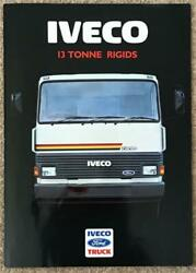 Iveco Ford 13 Tonne Rigids Commercial Sales Brochure 1988 88/326a