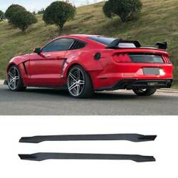 For Ford Mustang 2015-2021 Gtss Dry Carbon Fiber Exterior Door Panel Side Skirts