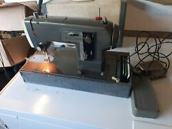 Heavy Duty Vtg Sears Kenmore Model 158-840sewing Machine W/ Carry Case And Manual