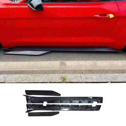 For Ford Mustang 2015-21 Gt500 Dry Carbon Fiber Exterior Door Panel Side Skirts