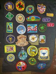 Lot Of Vintage Cub Scout / Boy Scout Patches Pins And More