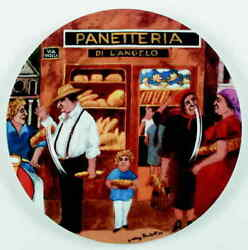 Guy Buffet Tuscan Storefronts Dinner Plate 5763411