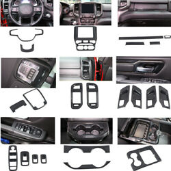 For Dodge Ram 1500 Abs Carbon Fiber Inner Accessories Kit Cover Trims 2019-2020