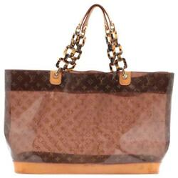 Louis Vuitton Clear Cabas Ambre Gm Neo Chain Tote Bag With Pouch 709lvs621