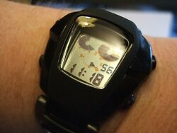 Rare Menand039s Citizen Expo 2000 Ctz-7004 Lcd Digital Vadar Black Watch