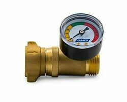 Camco Brass Water Pressure Regulator With Gauge- Helps Protect Rv Plumbing And H