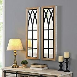 Firstime Decor Florence Farmhouse Arch Mirror - Set Of 2 Msrp 89.99