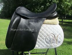 19 County Perfection Dressage Saddle-bull Leather- W/xw Tree- On Trial