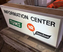 Vintage Tum's / Nature's Remedy Lighted Trade Show Sign, Circa 1950's, W./ Crate