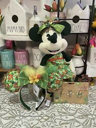 Disney Minnie The Main Attraction Enchanted Tiki Room Plush, Ears And Pins Set