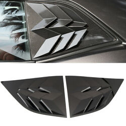 Abs Accessories Rear Window Louvers Shutters Trim For Dodge Challenger 2010-2019