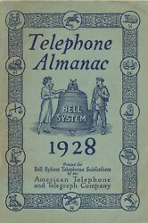 1928 Atandt Telephone Almanac, Stories, Kid's Rebus Pages, Bell System Advertising