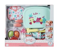 My Sweet Love Baby Doll Portable Table Feeding Play Set- 9 Pieces New All Dolls