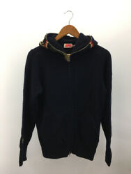 Secondhand Aape By Bathing Ape Knit Shark Parka/knit Hoodie/s/wool/navy/camo