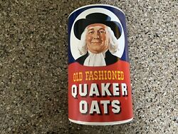 Old Fashioned Quaker Oats Ceramic Oatmeal Cookie Jar Canister Regal China No Lid