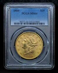 1900 Pcgs Ms64 20 Gold Liberty Double Eagle [061dud]