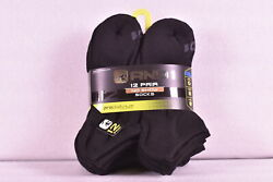Menand039s And1 Proplatinum 12-pack No Show Socks W/arch Compression Black 6 - 12.5