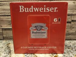 Budweiser 6 Can Cooler/mini Fridge Office Personal Portable Car Or Wall Plug In