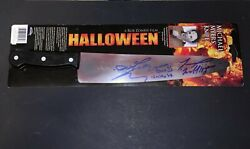 Rob Zombie Halloween 2007 Cast Signed X2 Autographed Michael Myers Knife W Proof