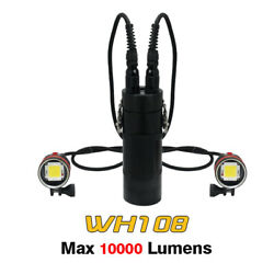 Archon Wh108 Dh102 2 Light Head Ports Canister Diving Video Flashlight Torch