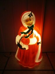 Vintage Mrs. Claus Lighted Christmas Blow Mold Decor 40 Rare By Santaand039s Best
