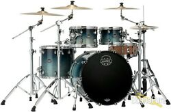 Mapex 4pc Saturn V Mh Rock Drum Shell Pack Teal Blue Fade