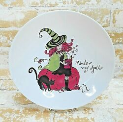 Rosanna Glamour Witch Under My Spell Serving Bowl Candy Dish Halloween 10.5