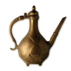Antique Indian Ewer Aftaba, Cast Brass, Mughal India – 18th Century