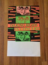 """Talking Heads 77 Original """"tour Blank"""" Poster From First U.s. 22 X 14 Ex Rare"""