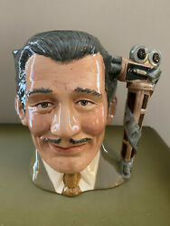 Royal Doulton Character Toby Jug - Clark Gable - Celebrity Collection D-6709