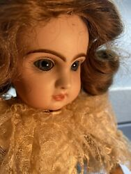 Perfect Size Antique  French  Closed Mouth 'tete Jumeau'  Doll