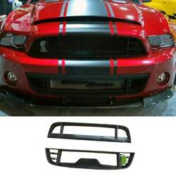 For Ford Mustang 2009-2014 Gt500 Dry Carbon Fiber Front Mesh Grille Grill Cover