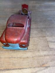 Vintage Metal Toy Truck With Wooden Wheels.