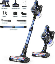 Aposen Cordless Vacuum Cleaner Stick Vacuums Removable Battery+telescopic Tube