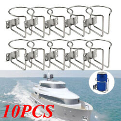 5pair Stainless Steel Ring Drink Bottle Cup Holder For Boat Marine Yacht Caravan