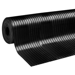 Wide Broad Ribbed Rubber Roll Mats | Flooring Matting For Garages And Cars