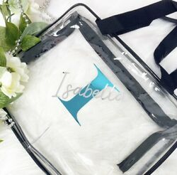 3x Clear Toiletry Make Up Cosmetic Transparent Personalised Set PVC Bags Travel $37.89
