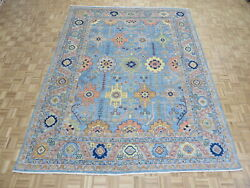 9'3 X 12'2 Hand Knotted Blue Colorful Turkish Oushak Oriental Rug G11065