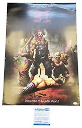 Rob Zombie 31 Movie Autographed Signed 19x27 Poster Acoa
