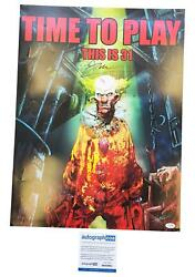 Rob Zombie This Is 31 Time To Play Signed 18x24 Poster Acoa