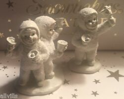 Let's All Chime In 76554 Dept 56 Snowbabies Rare Miniature Pewter Bell Ringers