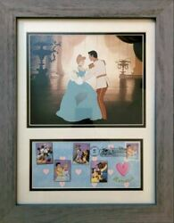 The Art Of Disney Cinderella First Day Issue Framed Stamp