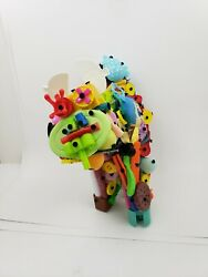 Upcycled Toy Cat Sculpture By Nyc Graffiti Artist Puke. Abstract Animal Art