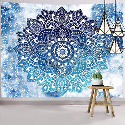 Mandala Tapestry Bohemian Tapestry Wall Hanging Blue Hippie Wall Tapes New