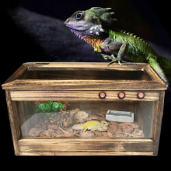 Large Reptile Chameleon Lizard Snake Cage Wooden Cages Paulownia No Rust Durable
