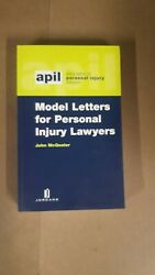 Model Letters Of Personal Injury Lawyers By John Mcquater Law Book