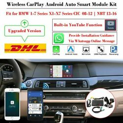 Wireless Carplay Android Auto Mirroring Youtube Module Kit Fit For Bmw Cic Nbt